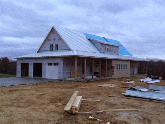 Day 211: Roof Progress and Driveway