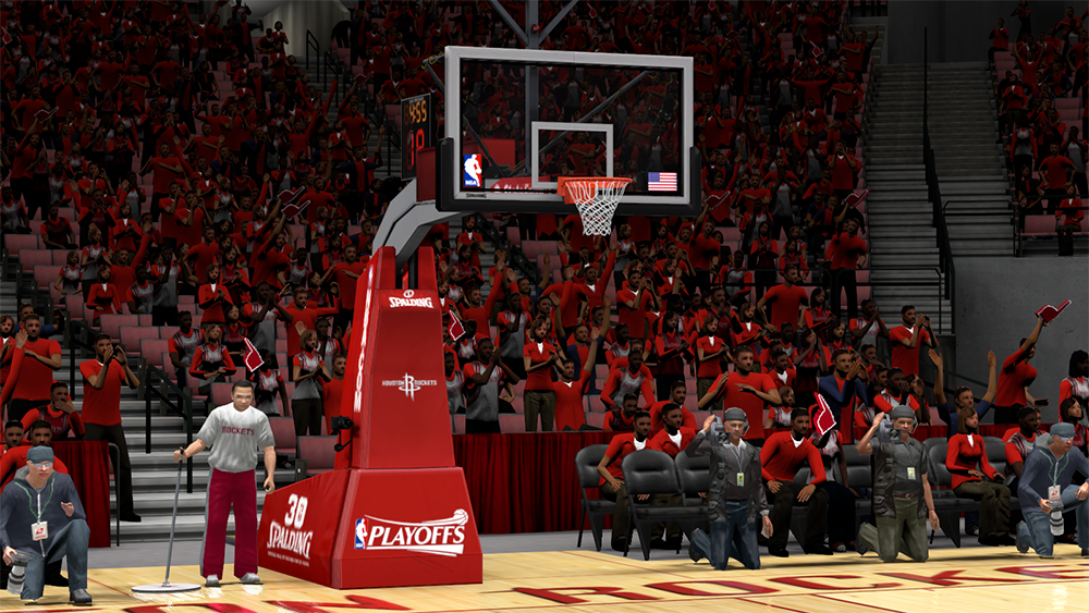 NBA 2K14 Rockets Playoffs Arena/Backboard