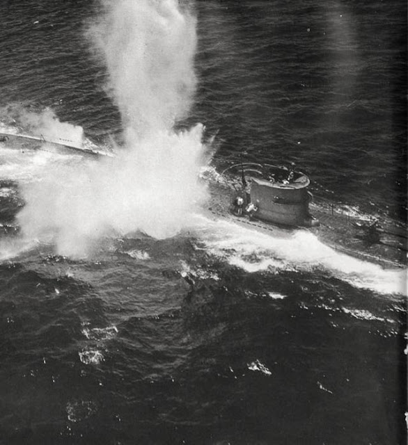 U-156 being sunk in the Atlantic worldwartwo.filminspector.com