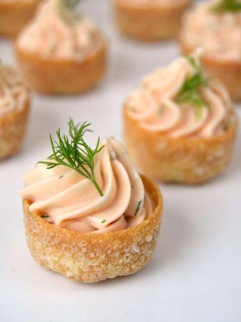 Tartaletas de mousse de salmón