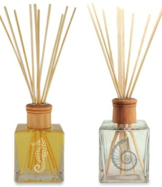 Decorative Reed Diffuser Bottles Coastal Beach Engraved