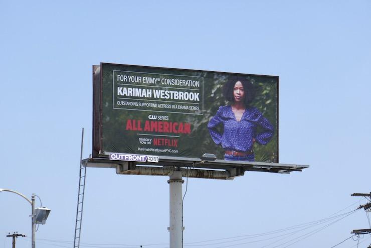 Karimah Westbrook All American Emmy 2020 FYC billboard