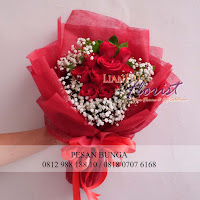 jual handbouquet mawar murah, toko bunga dijakarta selatan, jual bunga mawar merah