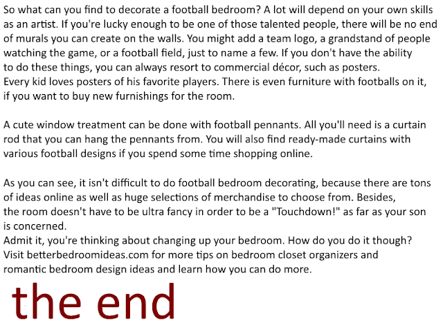 football decorations