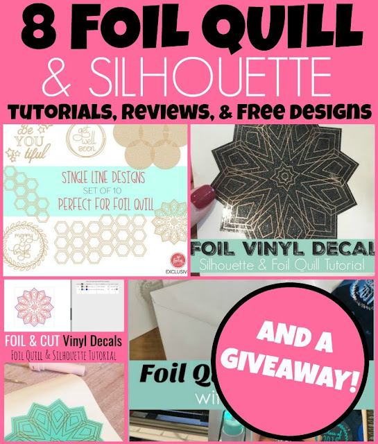 foil quil, foil quill silhouette, foil quill designs, foil quill tutorials, foil quill magnetic mat