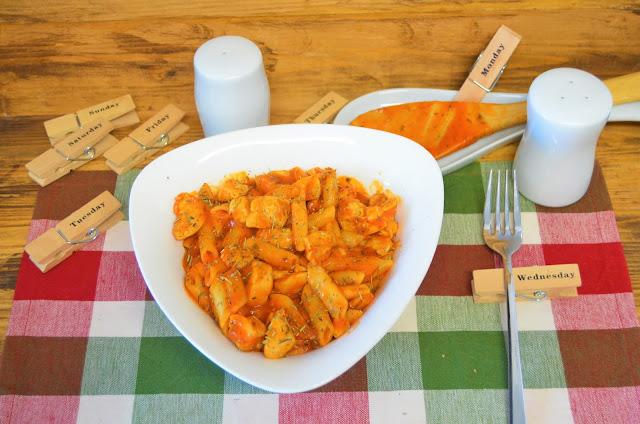 Las delicias de Mayte, macarrones con pollo y tomate a las hierbas provenzal, recetas de macarrones, macarrones recetas,