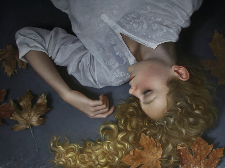 14-The-Sleeping-Muse-David-Gray-Lost-in-Thought-Realistic-Oil-Paintings-www-designstack-co