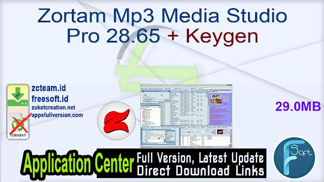 Zortam Mp3 Media Studio Pro 28.65 + Keygen_ ZcTeam.id