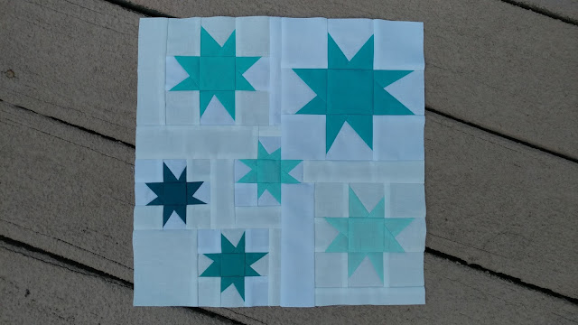 Wonky stars quilt block