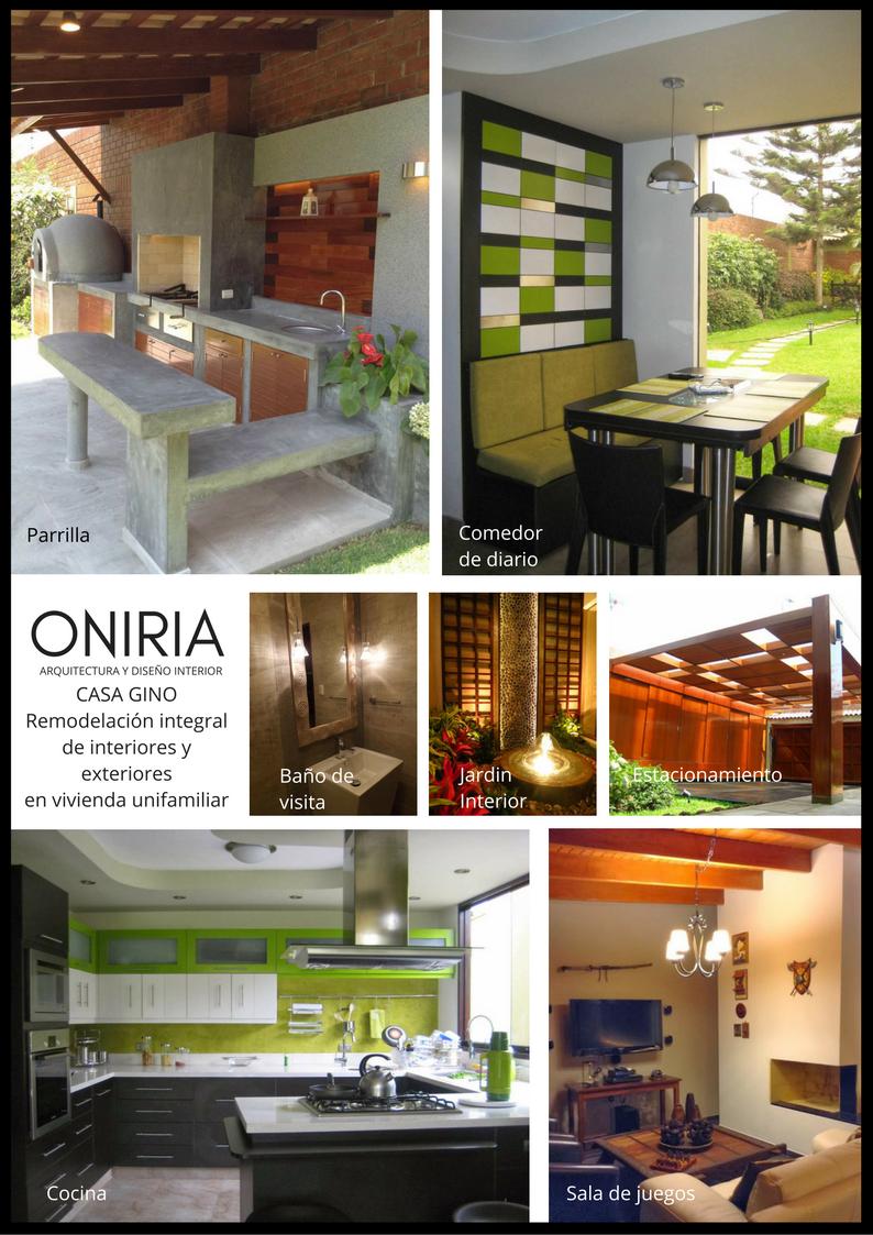 Oniria remodelaciones integrales de interiores de for Interiores de viviendas