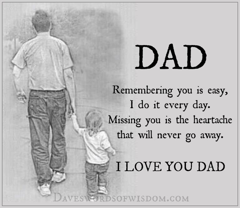Daveswordsofwisdom.com: Missing Dad