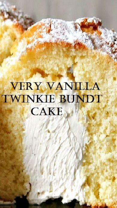 Very Vanilla Twinkie Bundt Cake