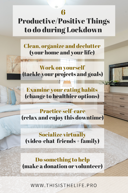 pinterest pin image - list of things to do during quarantine to stay busy