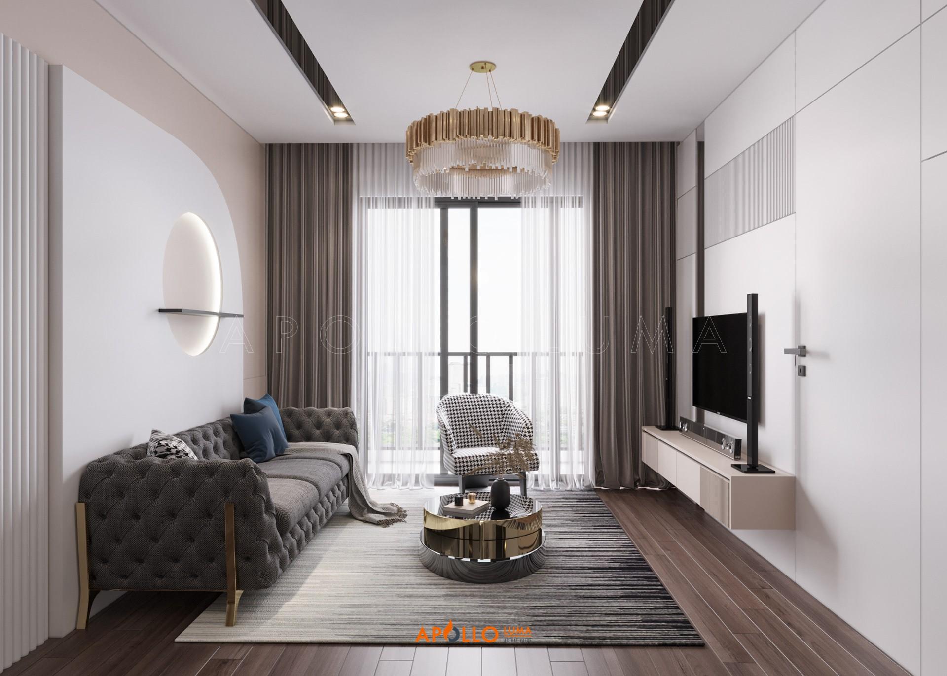Thiết kế nội thất căn 3 phòng ngủ (89m2) Vinhomes West Point