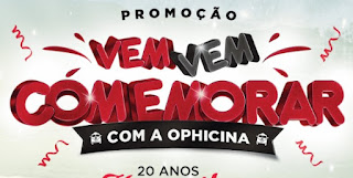 Cadastrar Promoção Ophicina 20 Anos Vem Comemorar