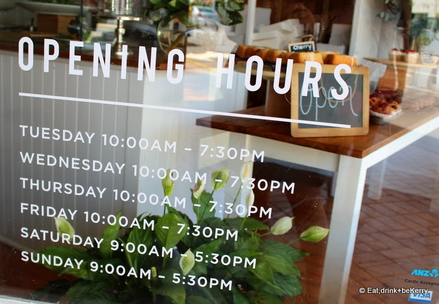 Opening hours for Botanica
