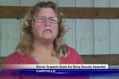 Woman suspects a man keeps raping her goats, and she calls the police