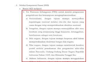 Kisi-Kisi Materi Tes Seleksi Kompetensi Dasar (SKD)