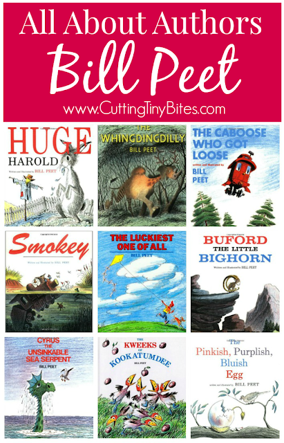 All About Authors: Bill Peet.  If you like Dr. Seuss, you'll LOVE Bill Peet!  Book reviews, biographical information, and other resources for this fantastic children's book author.