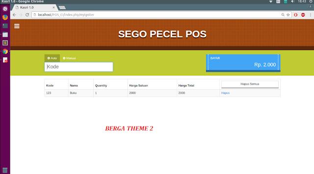 Source Code Aplikasi Web POS Sego Pecel Kasi PHP & MYSQL - Gratis dari BErga