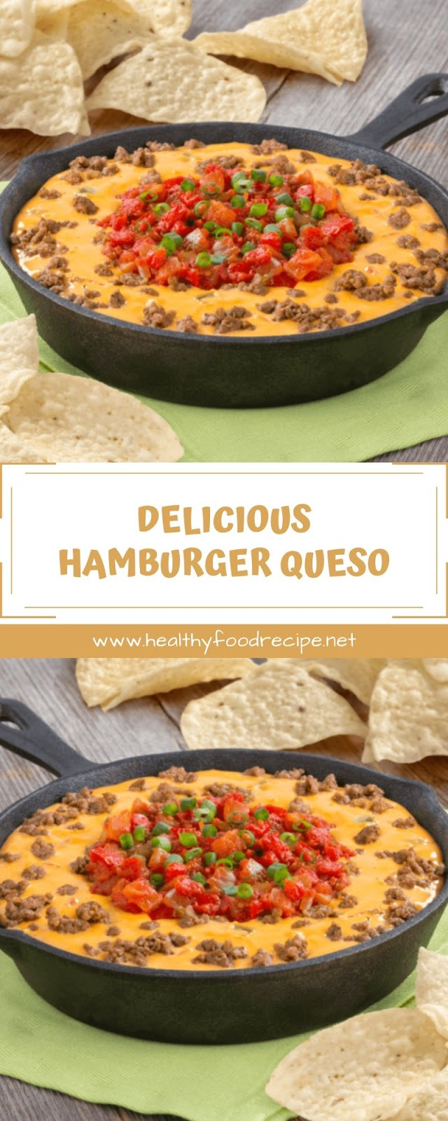 DELICIOUS HAMBURGER QUESO