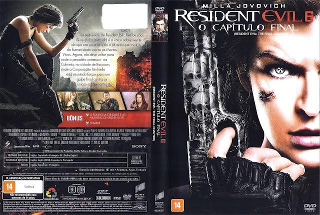 Capa DVD Residente Evil 6 O Capítulo Final (Oficial *)