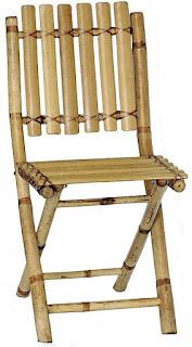 kerajinan dari bambu sederhana, kursi