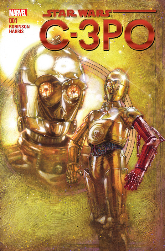 Star Wars Special: C-3PO #1 Story: James Robinson  Art: Tony Harris Letterer: Joe Caramagna. Star Wars created by George Lucas.