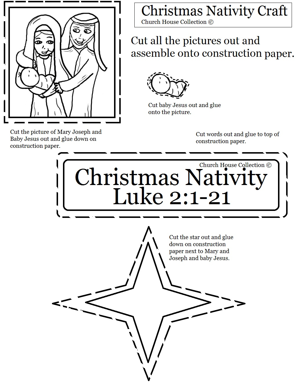 Crafts for sunday school lessons - Nativity Sunday School Lesson
