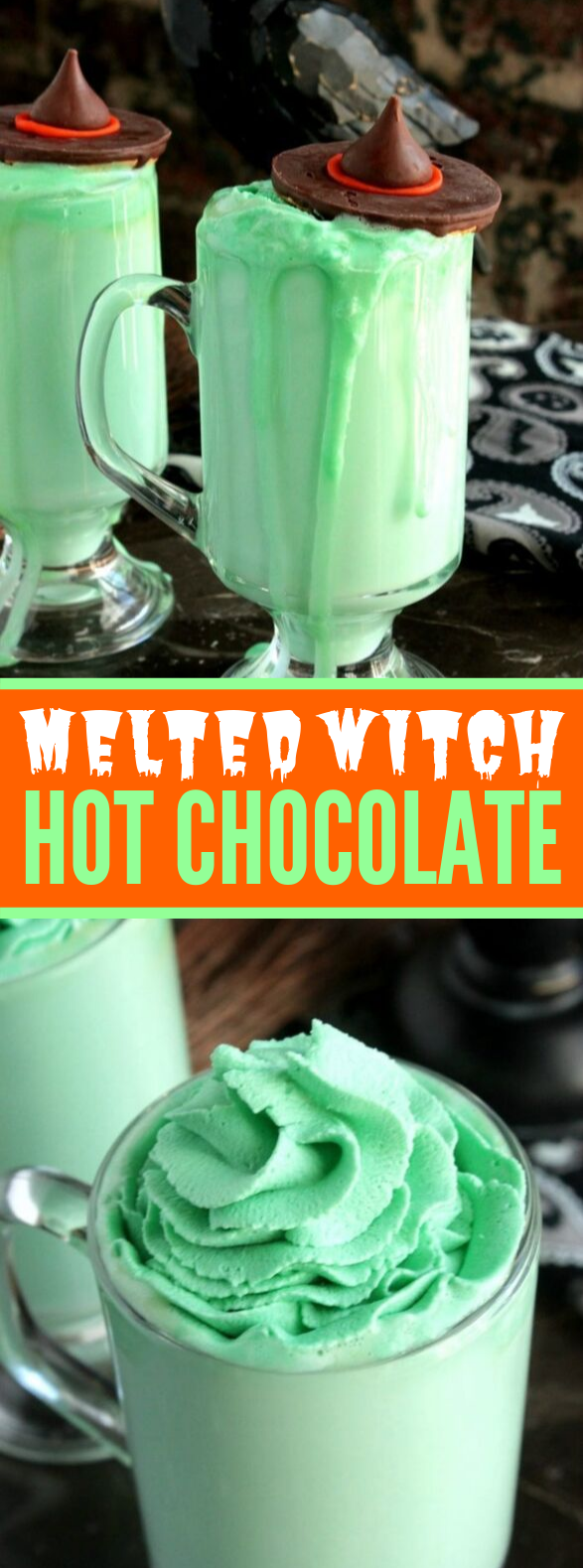 MELTING WITCH HOT CHOCOLATE #drinks #halloween