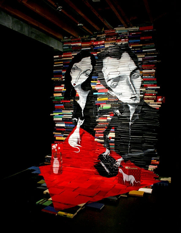 13-Mike-Stilkey-Books-used-as-Canvasses-for-Paintings-www-designstack-co