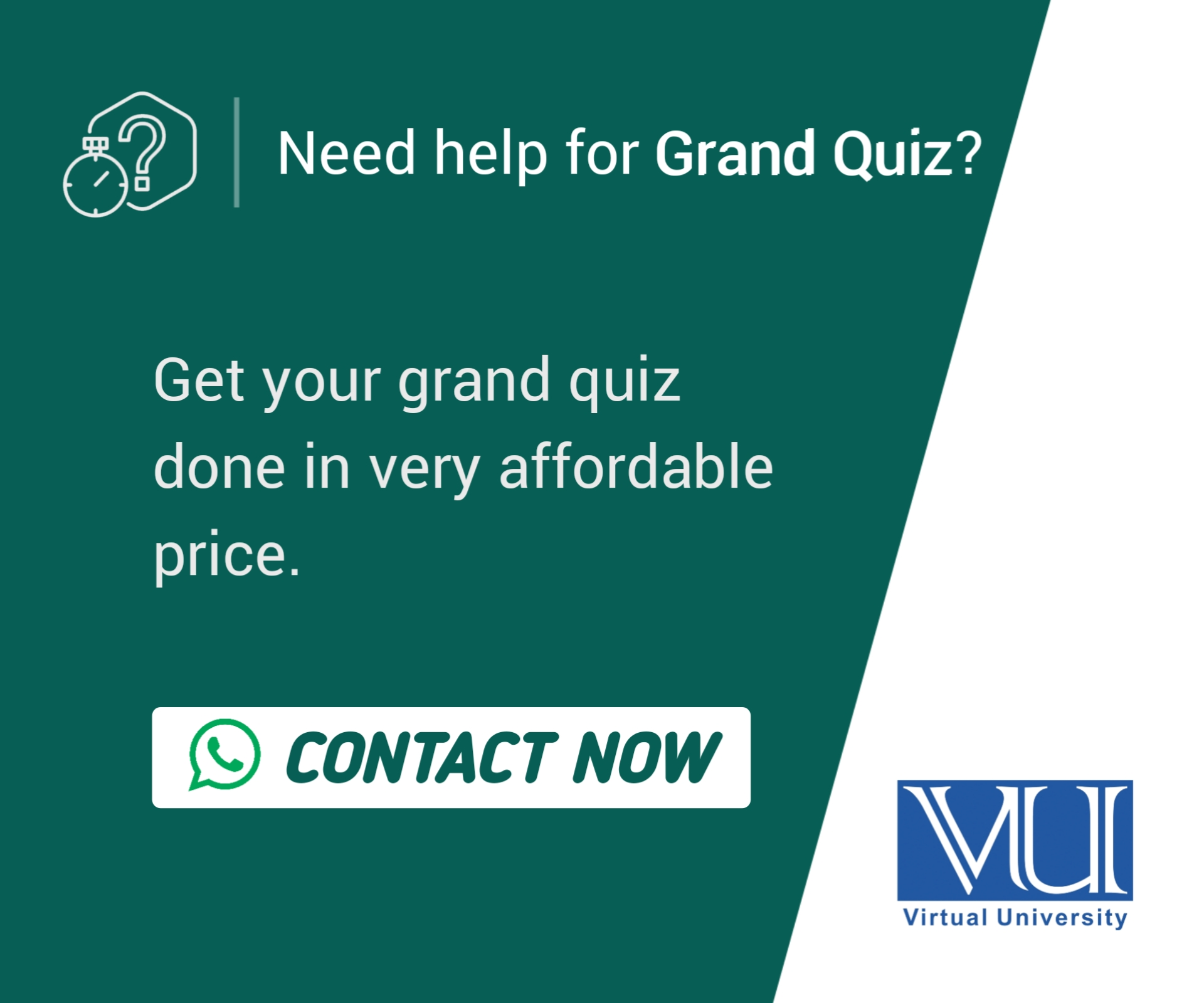 VU Insider Whatsapp Group