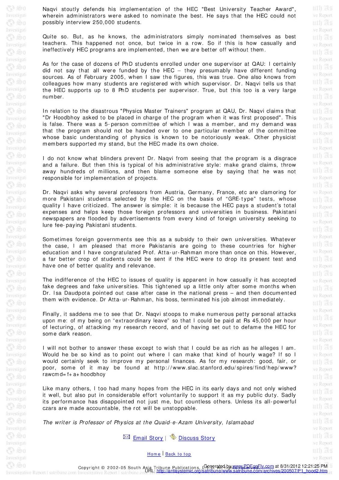 Chagatai Khan: Dementia: Dr  Abdul Qadeer Khan & Dr  Atta-ur