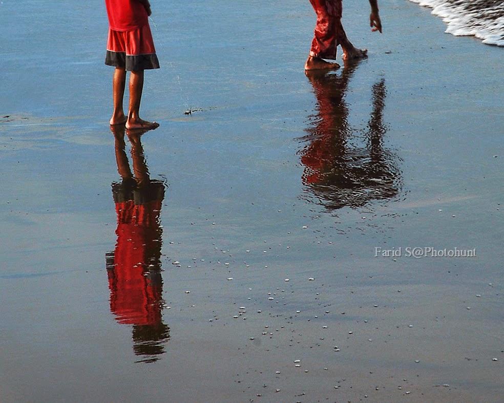 foto pantai. memotret pantai. Pantai Teluk Penyu Jateng