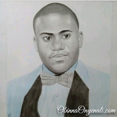 realistic pencil drawing of young ceo