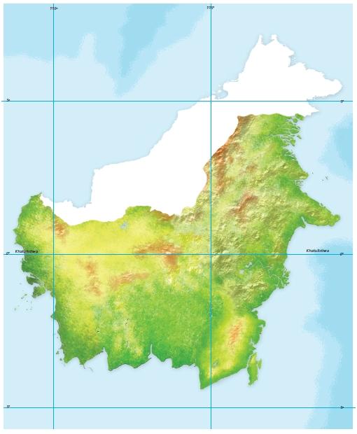 Peta Buta Pulau Kalimantan