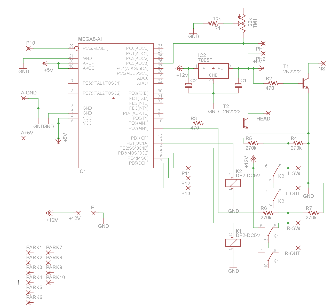 Projects And Notes Miata Ignition Key Bypass 95 Head Unit Wiring Diagram I Am Using Free Version Of Eagle To Do The Schematic Design You Can Download My Files Here