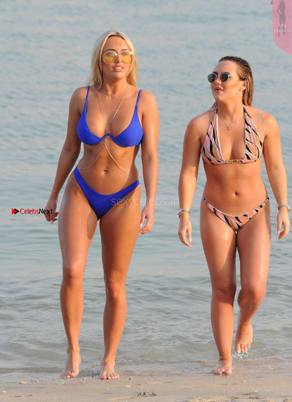 Amber Turner Beautiful Ass WOW in Blue Bikini Thongs ~ SexyCelebs.in Exclusive