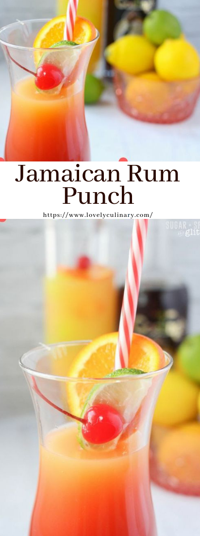 Jamaican Rum Punch #cocktail #smoothie