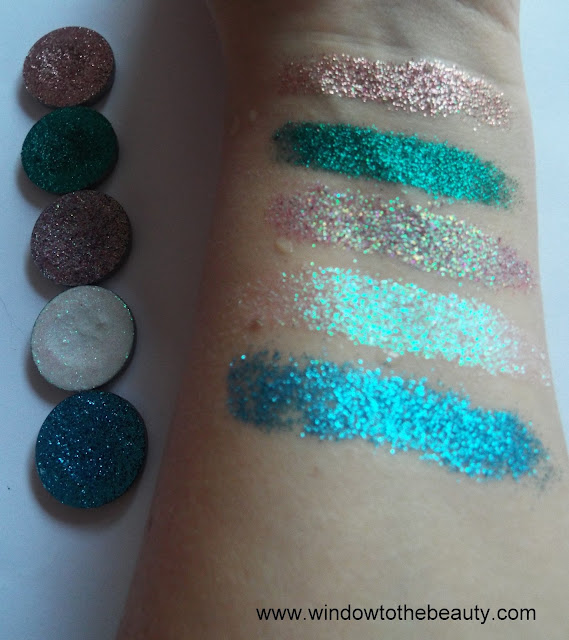 Revolution pro Glisten Up swatches