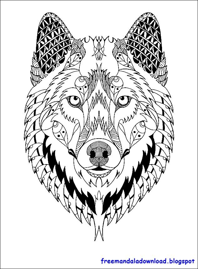 malvorlagen wolf mandala herunterladen pdf herunterladen