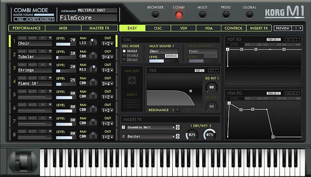 Interface do plugin KORG - M1 v2.2.1