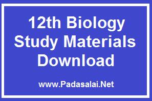 12th Biology Study Materials - Collection ~ Padasalai No 1