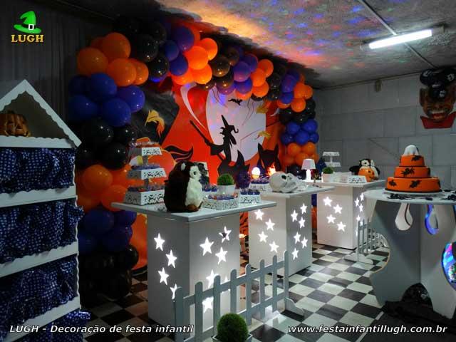 Decoração de aniversário infantil Halloween - Mesa decorada provençal