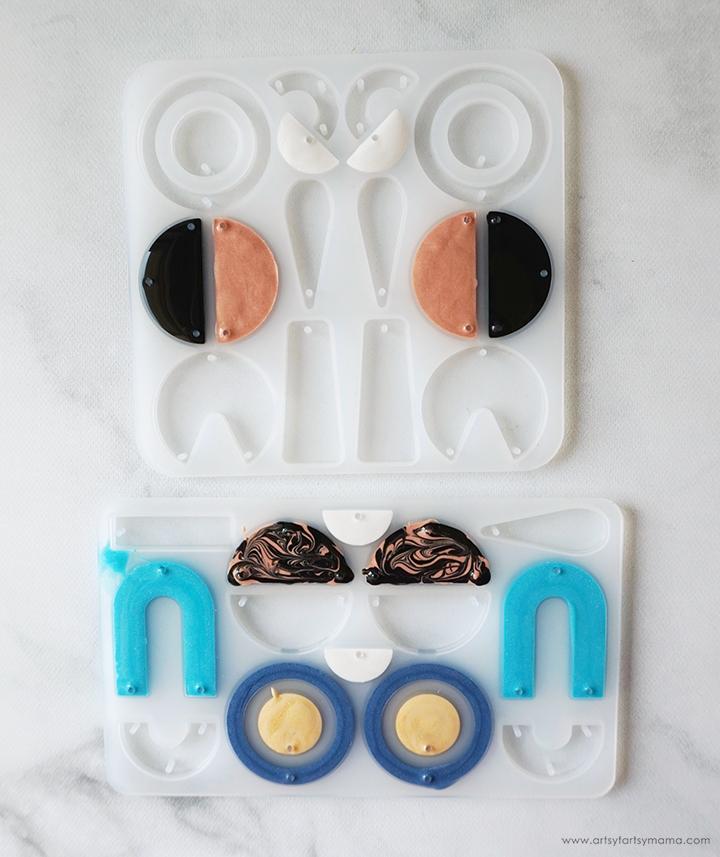 Modern Earrings Mold