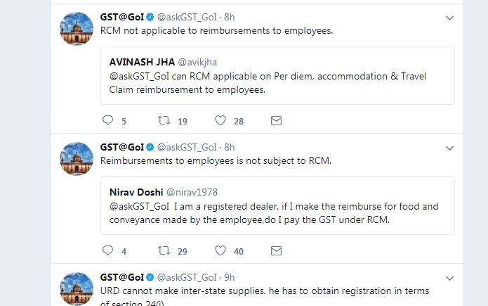 Employee Rei... Reverse Charge Mechanism Under Gst India