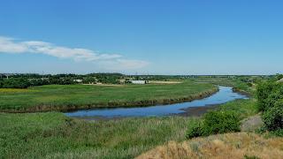 Андронівка, Межівський р-н, Дніпропетровська обл. Вигляд на село і річку Бик з кар'єру