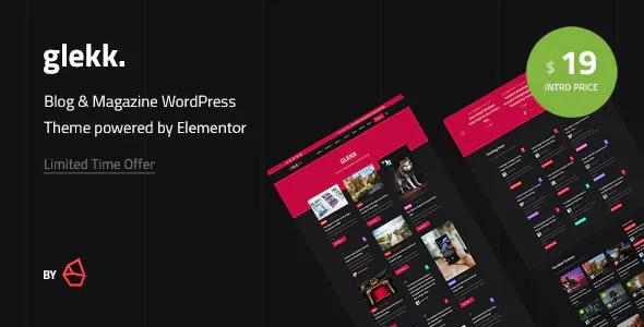 Elementor Blog & Magazine WordPress Theme