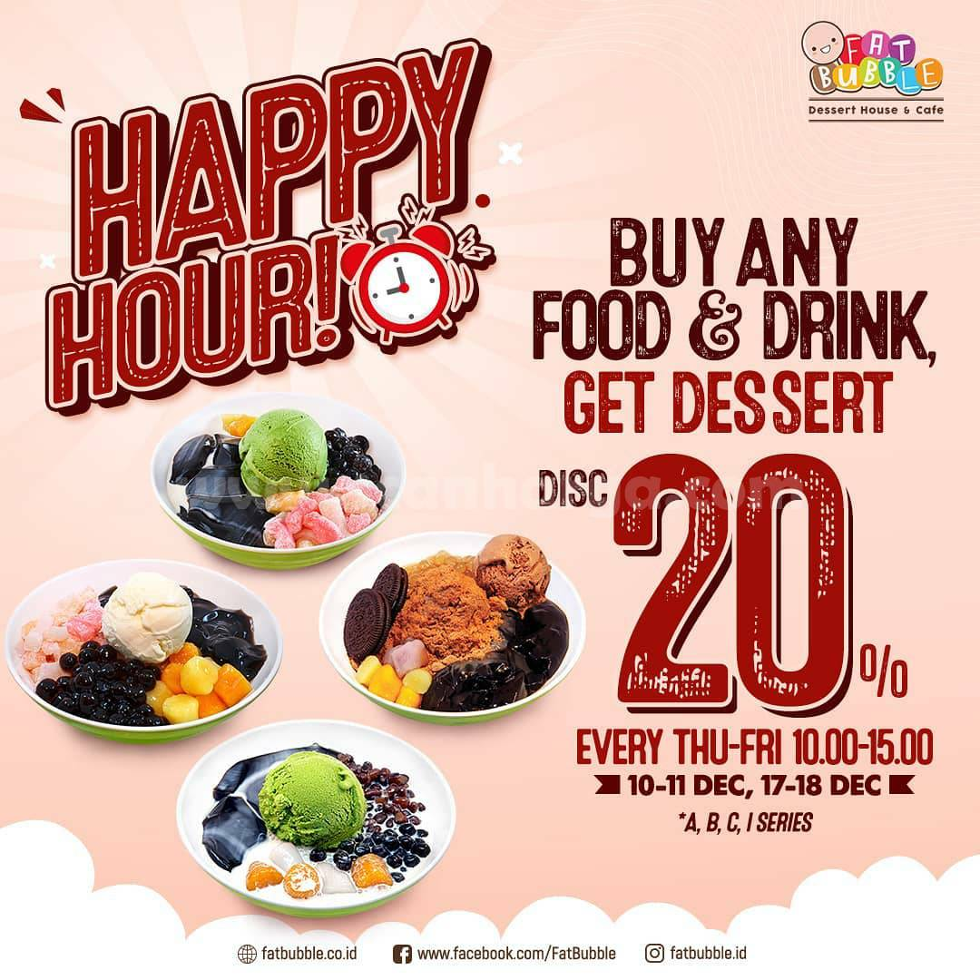 Fat Bubble Promo Happy Hour Beli Makanan Gratis Minuman