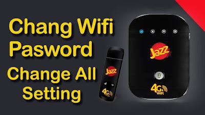 How to Change Jazz WIFI Device Password